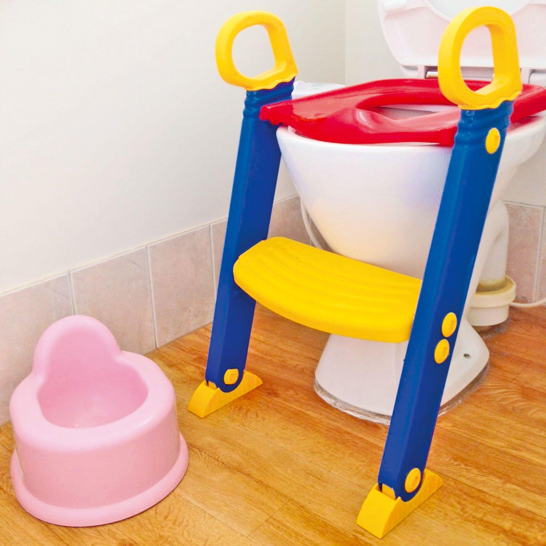 Ensemble de toilette pour bébé et enfant Top Home Solutions®/Siège de toilette avec échelle/Échelle de toilette pliable économie d'espace/Poignées de préhension pour la stabilité et la sécurité Taylor & Brown