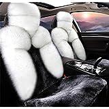 GAOFEI Luxus Schaffell lange Wolle Autositzkissen Abdeckung Auto Sitzbezug