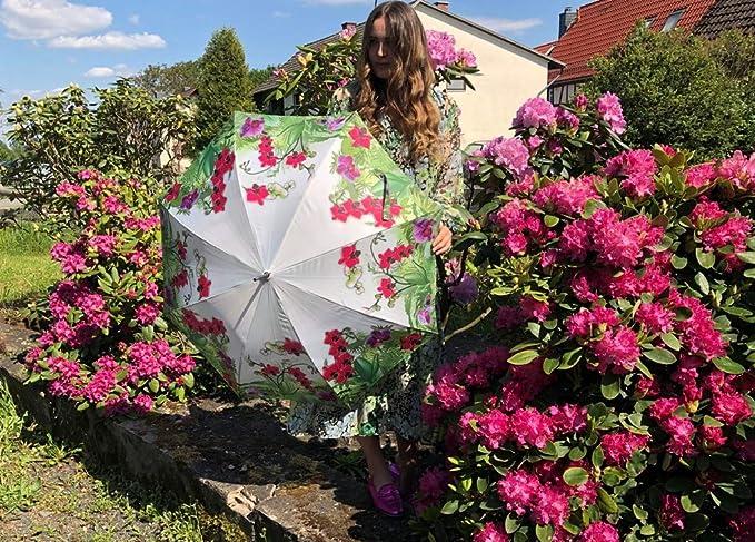 Parrot in Paradise VON LILIENFELD Paraguas Autom/ática Mujer Motivo Arte Eva Maria Nitsche