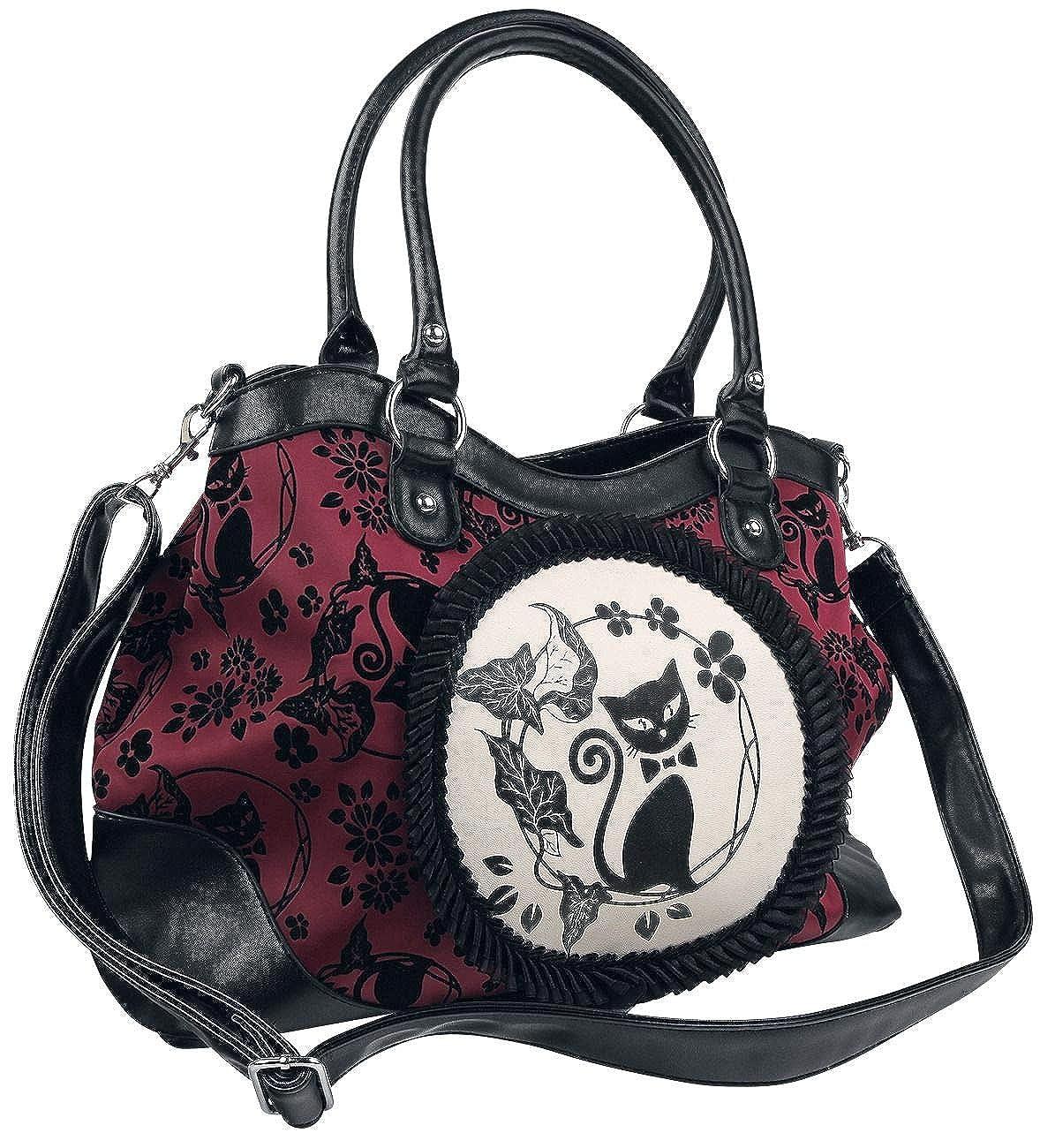 Amazon.com: Banned Apparel gato negro Luna Borgoña Rojo & ...