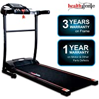 Healthgenie 3911M 2.5 HP at Peak, Light Weight Foldable Motorized Treadmill for Home Use & Fitness Enthusiast, Max Speed 10 Kmph