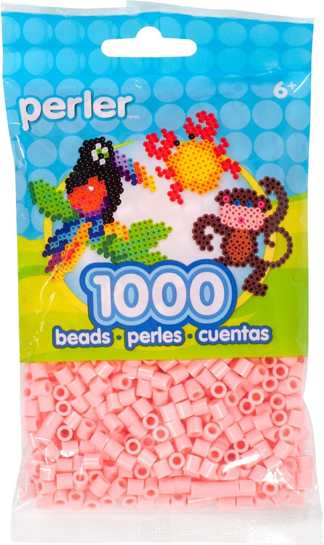 Perler Beads Fuse Beads for Crafts, 1000pcs, Flamingo Pink