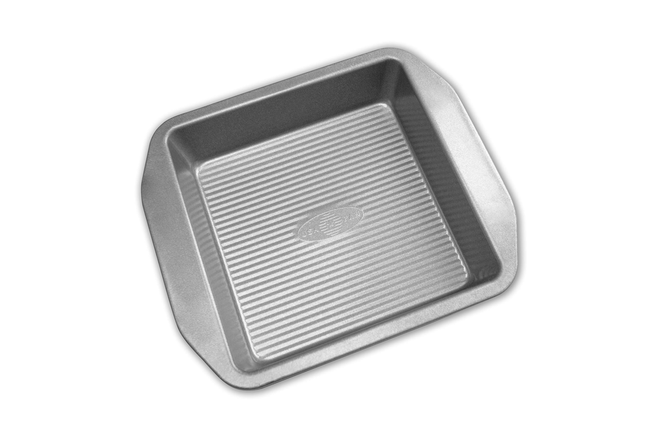 USA Pan 1120BW-3-ABC American Bakeware Classics 8-Inch Square Cake and Brownie Pan, Aluminized Steel by USA Pan