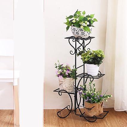 Flores Soporte Estantes Para Plantas Escalera Metalica Macetas - Estanteria-para-plantas