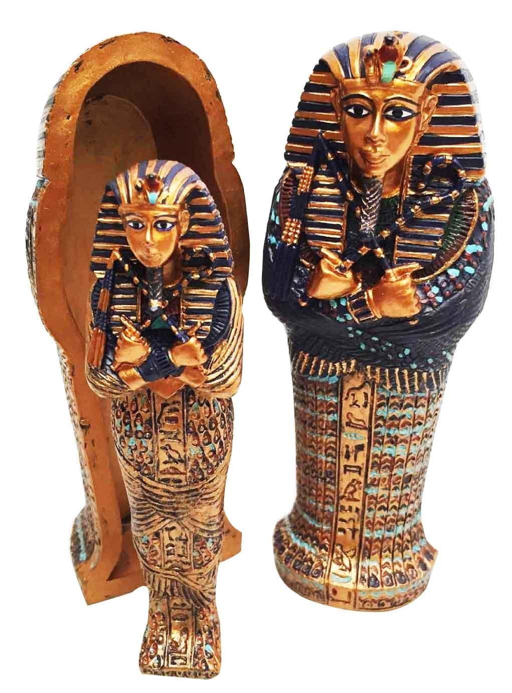 Uncategorized Pictures Of Sarcophagus amazon com mini egyptian king tut pharaoh sarcophagus with mummy sculpture figurine box beauty