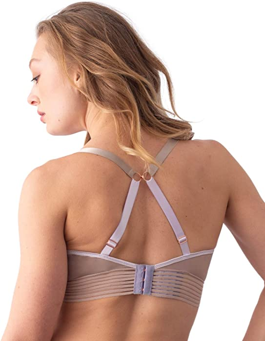 0b53c079a53 HOTmilk Womens Project Me Ambition Nursing Wirefree Bra Size 30E in Cosmetic.  Back. Double-tap to zoom