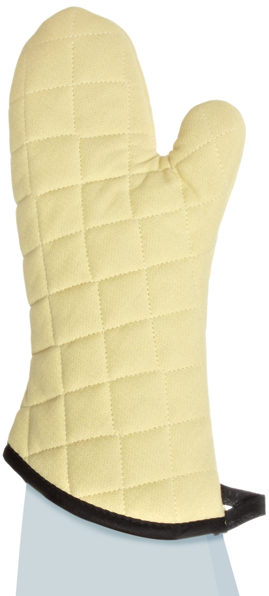 San Jamar KM15 Kevlar Fire Retardant Temperature Protection Oven Mitt, 15'' Length, Gold