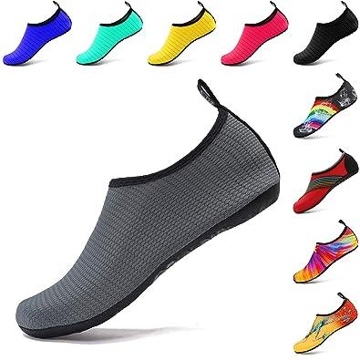 e9e4e7248a288 VIFUUR Wassersport Schuhe Barfuß Quick-Dry Aqua Yoga Slip-on für Männer  Frauen Kinder