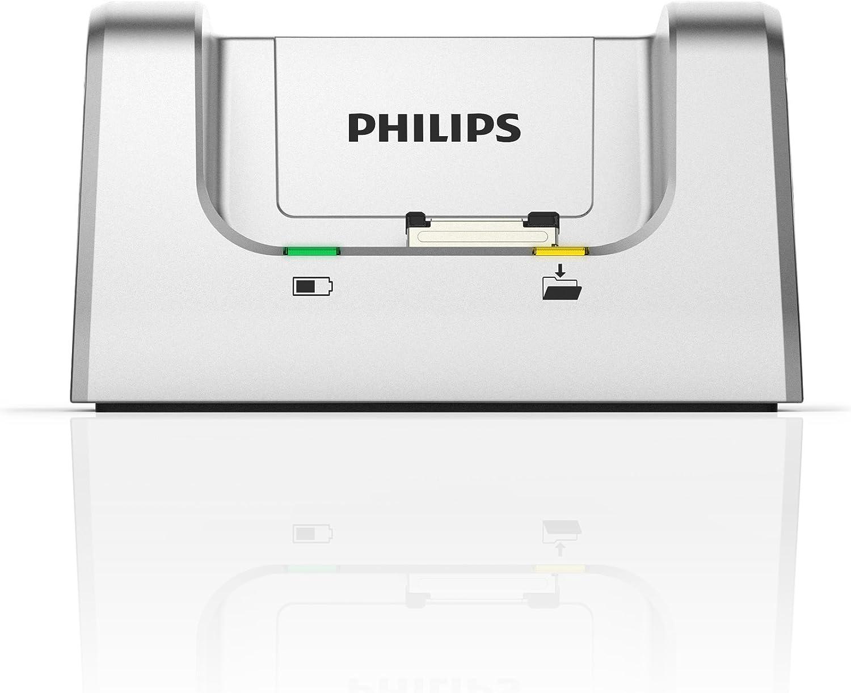 silber Philips ACC8120 Dockingstation f/ür digitale Philips Diktierger/äte der Serien DPM8xxx DPM7xxx DPM6xxx