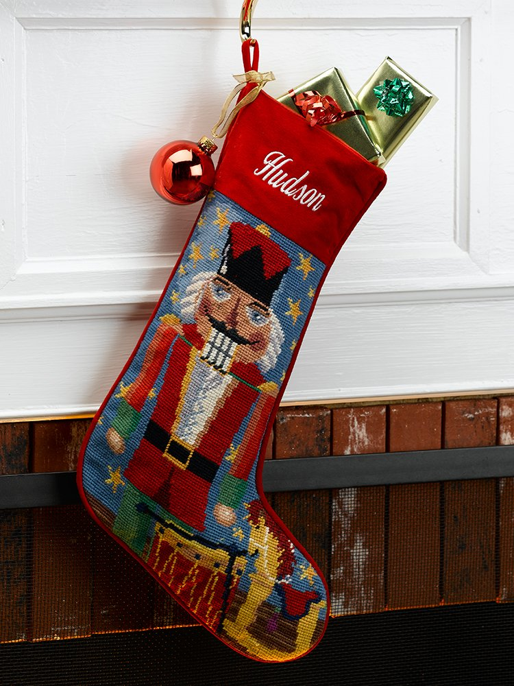 Nutcracker Needlepoint Stockings
