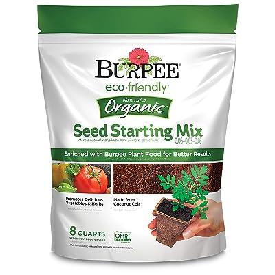 Burpee Organic Eco Friendly 8 Qt Seed Starting Mix 0.06-0.03-0.03 : Garden & Outdoor