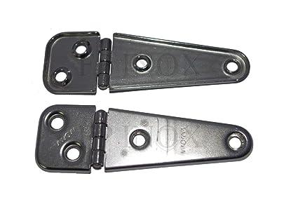 Bisagra Acero Inoxidable 103 x 32 mm, espesor 1 mm (lote de ...