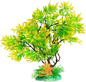 Quickun Artificial Plastic Plants Set Aquarium Decor Fish Tank Ornament Decoration Pack of 1