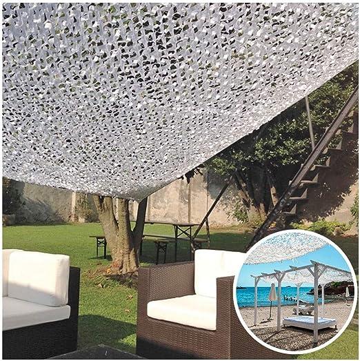 Red de Sombra Malla de Camuflaje Blanca Malla Sombra Red de jardín 3x5m 3x8m for Militar Coche Protección Solar Toldos Terraza Camping Cubierta jardín Decorativo Toldos Refuerzo Camuflaje Net: Amazon.es: Hogar