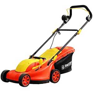 Falcon Electric Rotary Lawn Mower (Red)