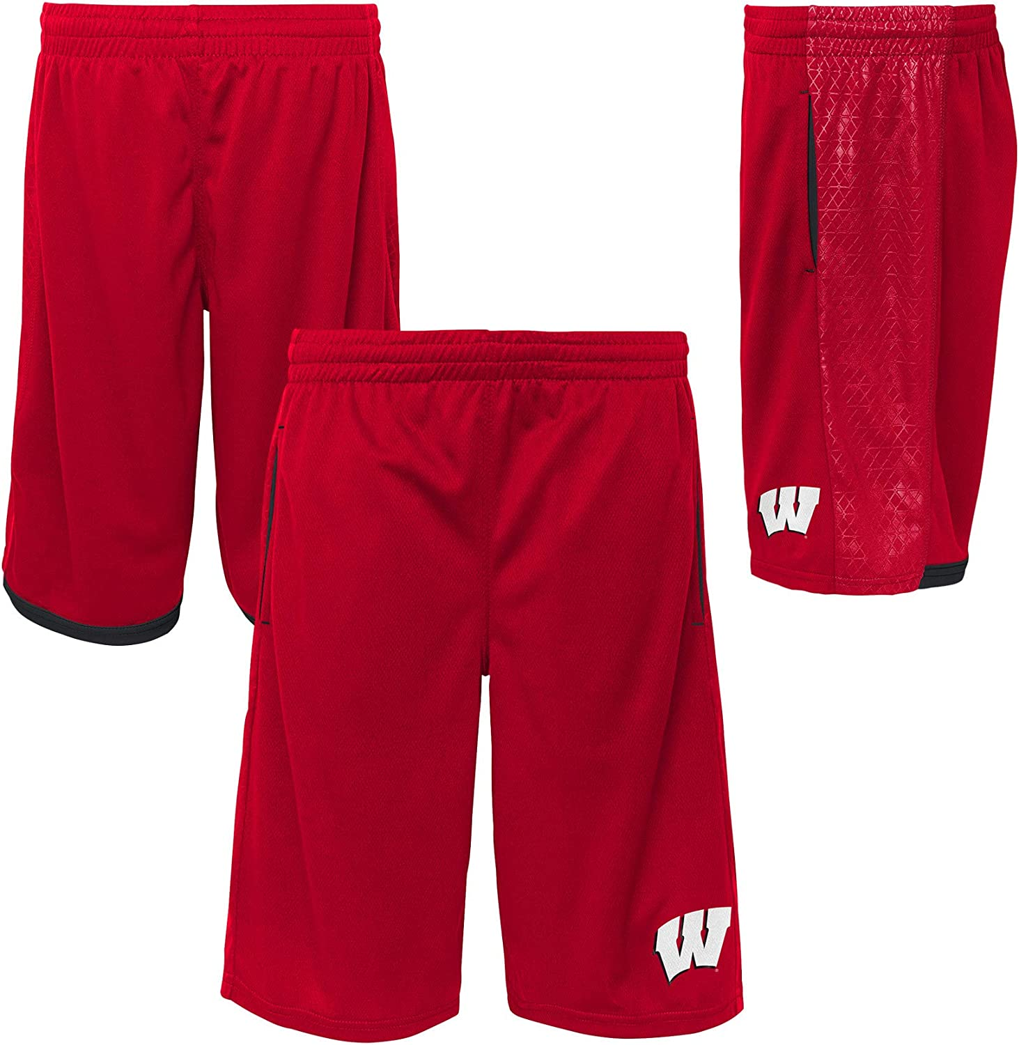 Outerstuff Wisconsin Badgers Youth Grid Shorts