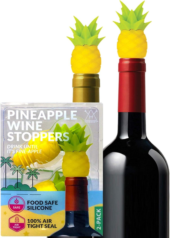 Hawwwy Funny Pineapple Wine Stopper + Gift Box