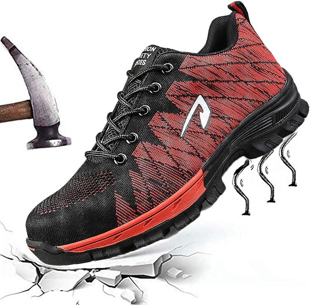 SUADEEX Homme Femme Chaussure de Travail Chaussure de S/écurit/é Baskets Chaussures de Randonn/ée Taille 35-46