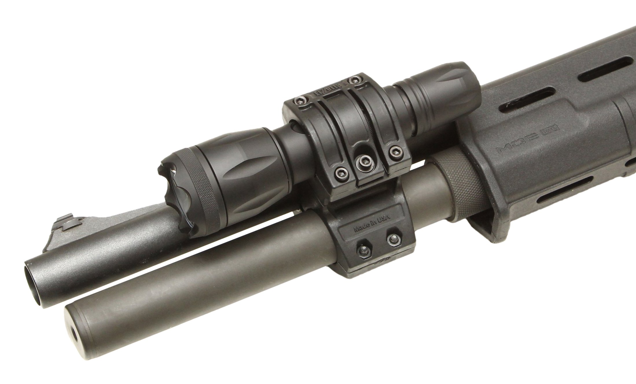 Elzetta ZSM-T Flashlight Mount for Tactical Shotgun, Remington 870, Mossberg 500, Quick Release Thumbscrew Model by Elzetta