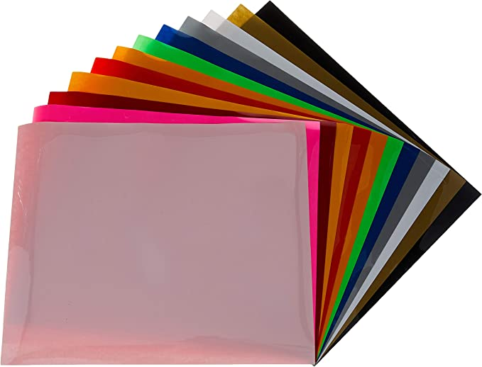 "12-Color Starter BUNDLE SISER EasyWeed Tshirt Heat Transfer Vinyl HTV 15/"" x 12/"""