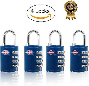 FST TSA Lock equipaje cerraduras para viaje certificado por TSA Lock 4 pack-blur: Amazon.es: Bricolaje y herramientas