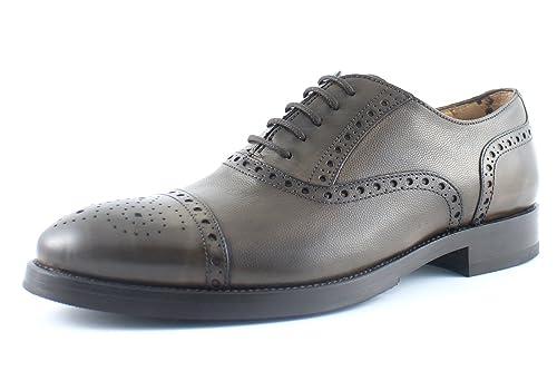 Giorgio rea Zapatos de Hombre de Cuero Genuino Hechos a Mano en Italia, Brogue Color