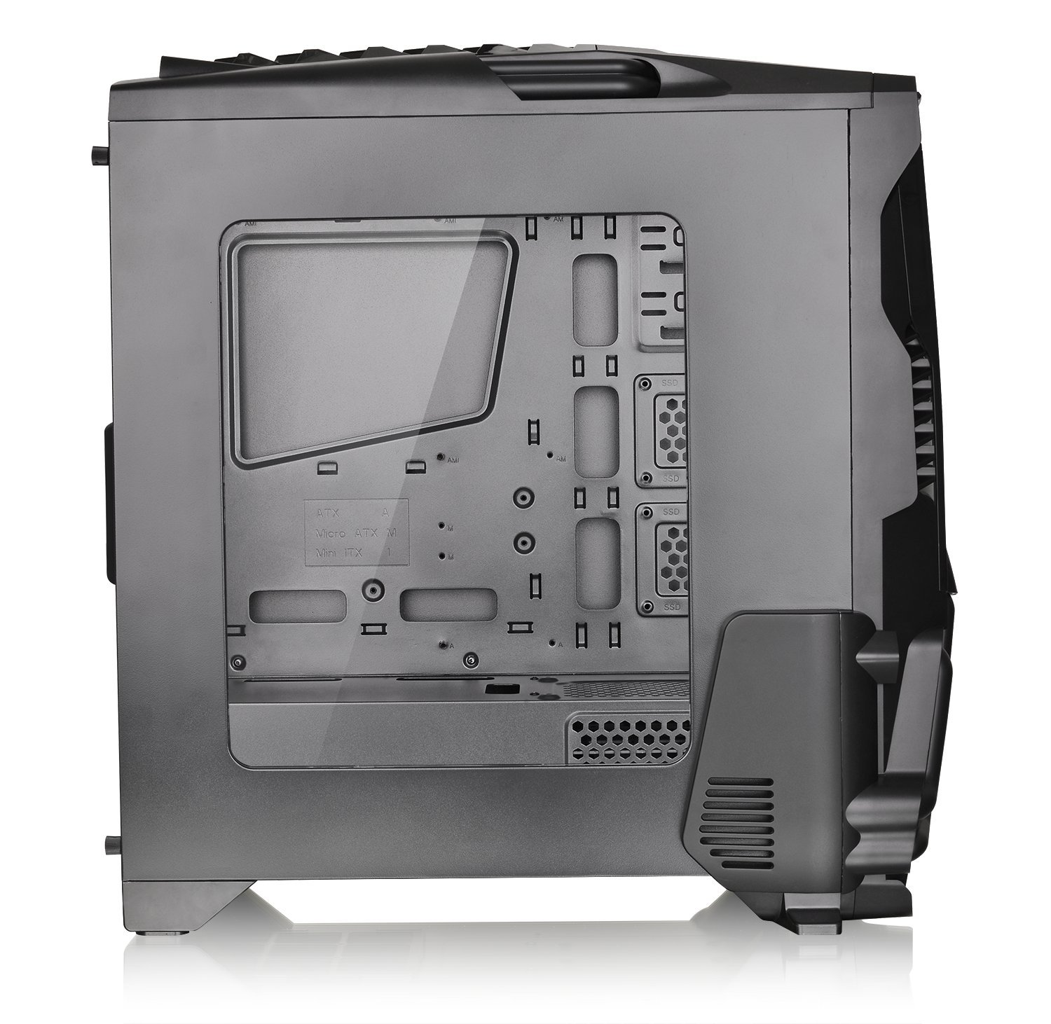 Thermaltake Versa N24 Black ATX Mid Tower Gaming Computer Case Chassis with Power Supply Cover, 120mm Rear Fan preinstalled. CA-1G1-00M1WN-00 by Thermaltake (Image #14)