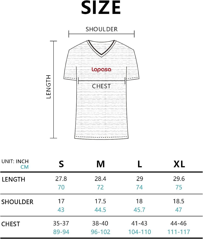 LAPASA T-Shirt Uomo Pacco da 2 Maglietta a Scollo V Soffice e Flessibile Slim Fit Maniche Corte M06 Cotone ELS Premium