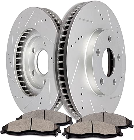 REAR DRILLED /&SLOTTED BRAKE ROTOR FOR 1998 1999 2000 2001 2002 Camaro Trans Am