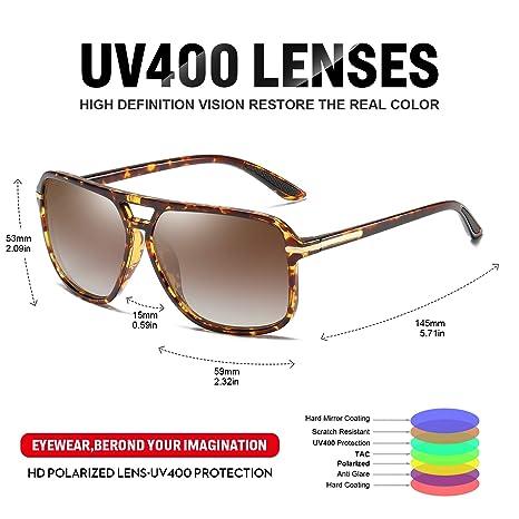 Amazon.com: Heptagram - Gafas de sol para hombre, diseño de ...