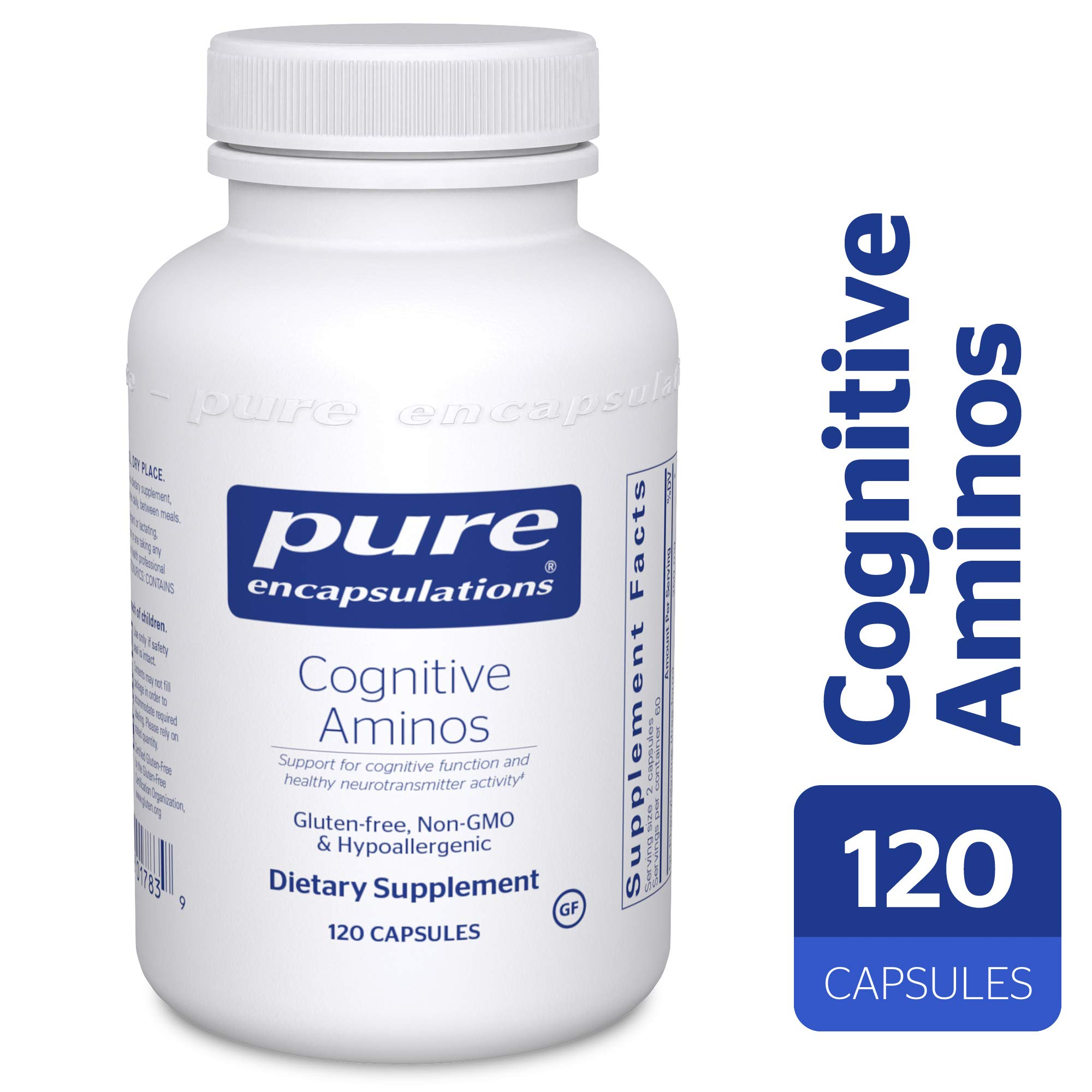 Pure Encapsulations - Cognitive Aminos - Hypoallergenic Supplement for Cognitive Function Support* - 120 Capsules
