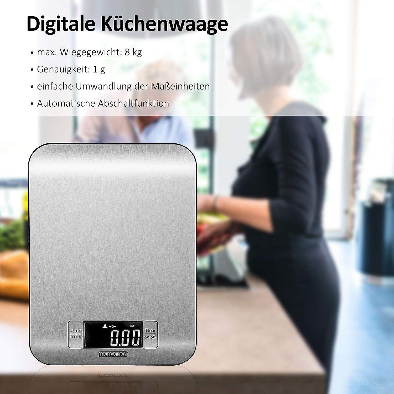 Monzana Digitale Kuchenwaage Haushaltswaage Digitale Waage