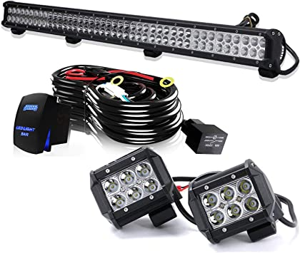 39 inch 252W LED Work Light Bar Truck For ATV SUV 4X4 Jeep Truck Driving 40