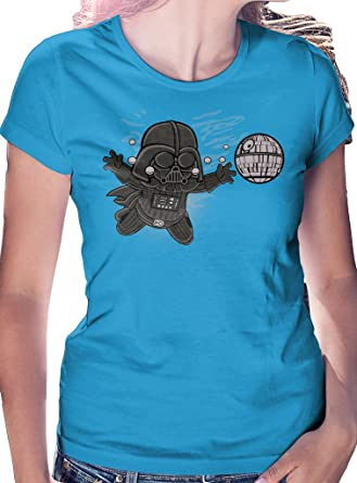 LeRage Camisas Darth Vader Nevermind   Camiseta de Star Wars con Nirvana Album Cover Nevermind Mujer