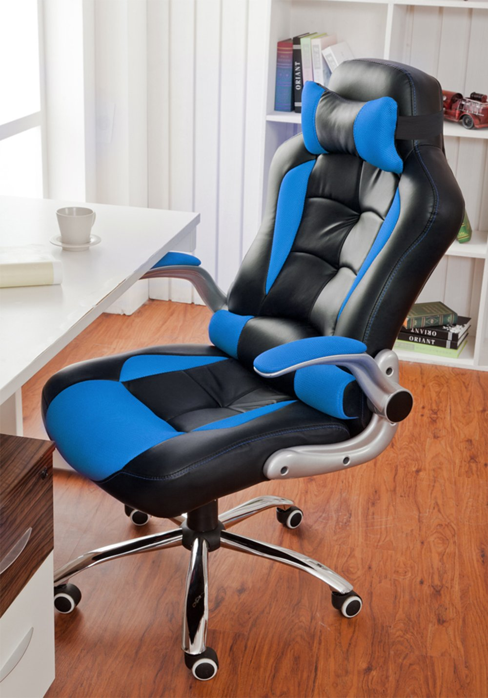 luxury office chairs leather. btm luxury desk chair swivel pc office tilt function padded adjustable height ergonomic pu leather amazoncouk kitchen u0026 home chairs