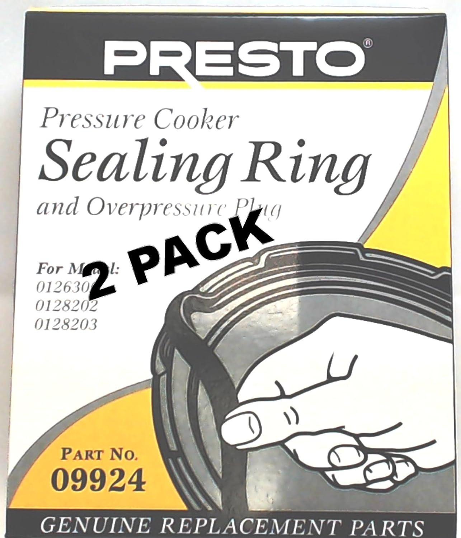 2 Pk, Presto Pressure Cooker Gasket Sealing Ring 09924