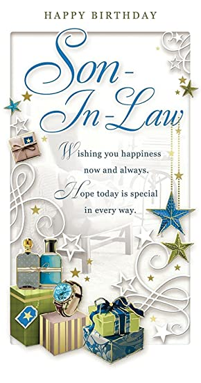 Son In Law Birthday Card Happy Birthday Watch Gift Boxes Stars