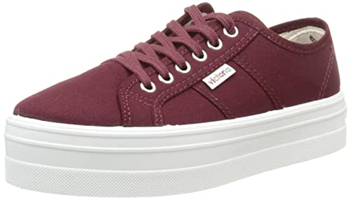Victoria Unisex Adults Basket Lona Plataf. Low-Top Sneakers red Size: 2