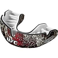 Opro Power-Fit Sports Mouthguard, Adultos Unisex, UFC-Rojo/Negro/Blanco
