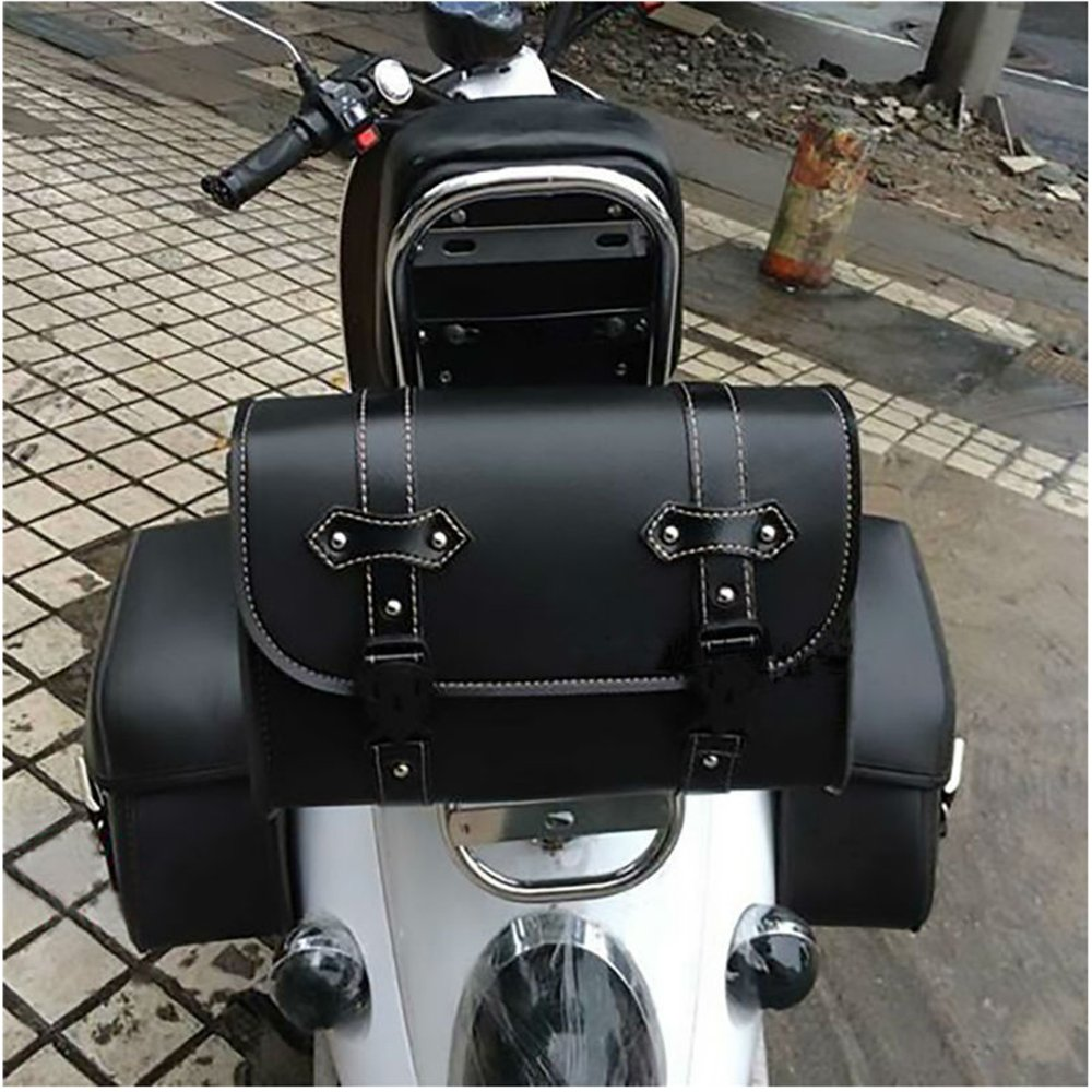 Motorcycle Saddle Storage Bag Black Motorcycle Pannier QEES Motorbike Tool Roll Fathers Day Gift GJB04