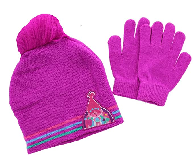 476b781858b Image Unavailable. Image not available for. Color  Trolls Poppy Girls Hat  and Gloves Set ...