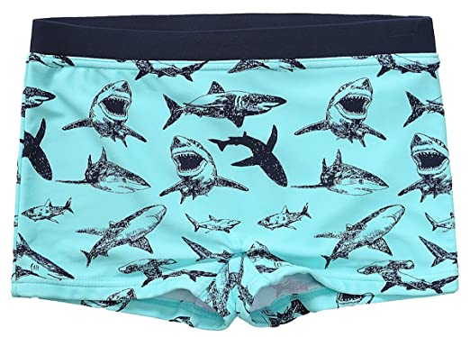 d8c32e385fd8c beautyin Boys Cute Blue/Navy Shark Printed Front Lined One Piece Swimming  Shorts 3