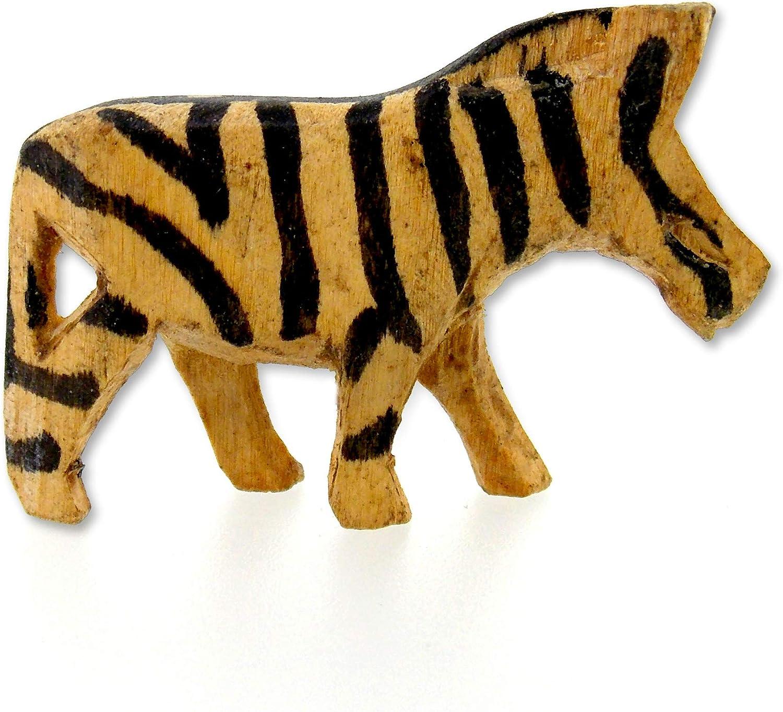 Wooden toy Zebra figurine African animal toys Safari animals