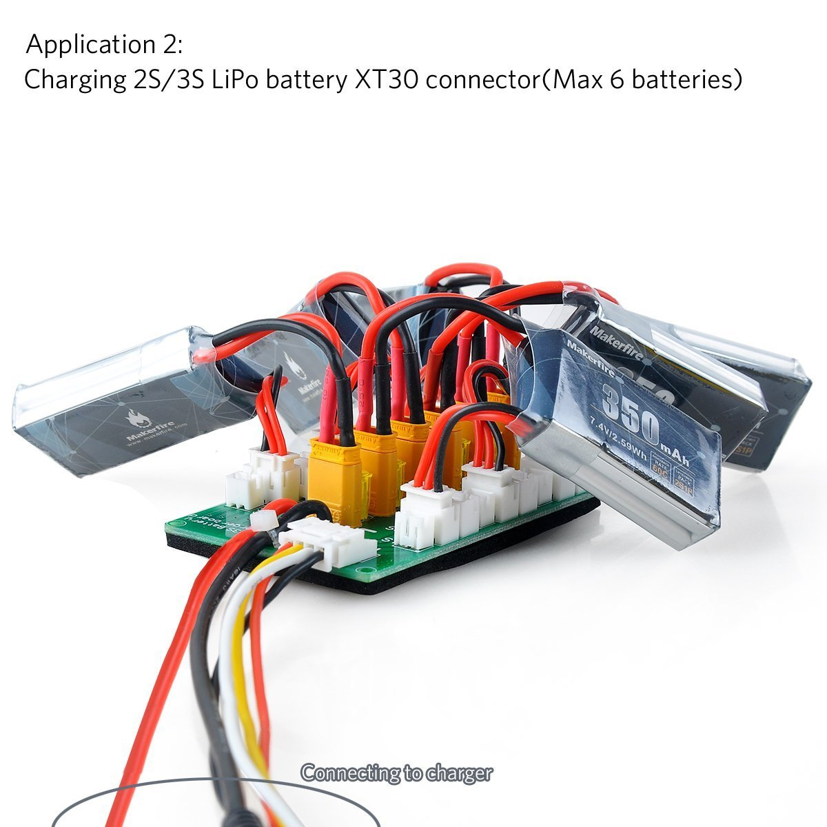 Fancywhoop Xt30 Parallel Charging Board For 2s 3s Lipo Batteries Wiring Compatible With Jst Connector Toys Games