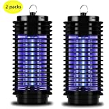Ohuhu Insect Bug Zapper Powerful Electric Flying Insect Killer with UV Light Trap /& Additional Control Swtich Black Indoor Outdoor Mosquito Fly Insect Catcher Killer,6W Trap Light with Hook