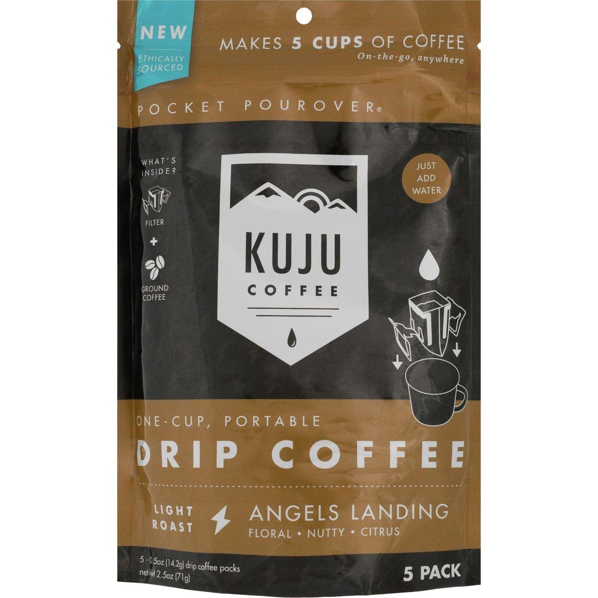 KujuコーヒーkujuコーヒーポケットPouroverコーヒー – 5 - Pack B0752MPL5K  Angels Landing (Light Roast) One Size