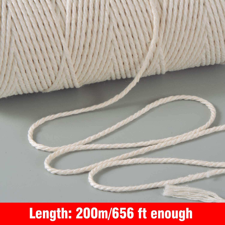 ipow Hilo macrame 1mm x 400m de 100/% algod/ón tapices macram/é Cuerdas Macrame natural para artesan/ía DIY Hilo de algod/ón beige etc. atrapasue/ños Colgante de Pared