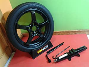 2016 chevy spark spare tire wheel donut with jack kit. Black Bedroom Furniture Sets. Home Design Ideas
