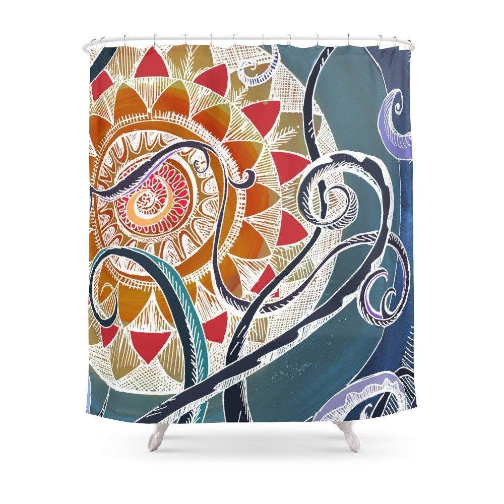 Amazon MAOXUXIN Lotus Shower Curtain 60 By 72 Home Kitchen