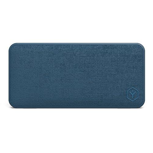 Ryght NAMO R482792 Enceinte Bluetooth Tissu avec micro intégré puissante/ Design chic et soigné/ Son clair et équilibre/ 14 heures d'autonomie/ Portée sans fil 10M/ Bleu